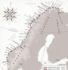 Routenkarte_Norwegen_Seereise
