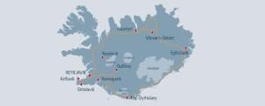 Island autorundreise
